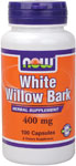 White Willow Bark 400 mg - 100 Capsules, NOW Foods