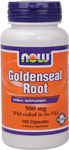 Goldenseal Root 500 mg US wildcrafted - 100 Capsules, NOW Foods