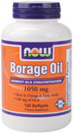 Borage Oil 1000 mg  ( Highest GLA Concentration ) - 120 Softgels, NOW Foods