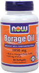 Borage Oil 1000 mg - 240 mg GLA - 60 softgels, NOW Foods