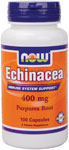 Echinacea Supplement 400 mg - 100 Capsules, NOW Foods