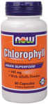 Chlorophyll Supplement 100 mg - 90 Capsules, NOW Foods
