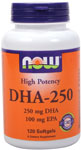 DHA-250 - 120 Softgels, NOW Foods