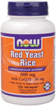 Red Yeast Rice 600 mg with CoQ10 30 mg - 120 VCaps, NOW Foods
