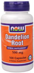 Dandelion Root 500 mg - 100 Capsules, NOW Foods