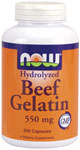 Beef Gelatin 550 mg - 200 Capsules, NOW Foods