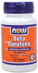 Beta Carotene 25,000 IU - 100 Softgels, NOW Foods