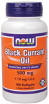 Black Currant Oil 500 mg - 100 Softgels, NOW Foods
