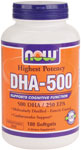 DHA-500 - 180 Softgels, NOW Foods