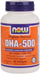 DHA-500 - 90 Softgels, NOW Foods
