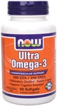 Ultra Omega-3 - 90 Softgels, NOW Foods
