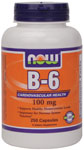 Vitamin B-6 100mg - 250 Capsules, NOW Foods