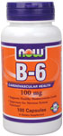Vitamin B-6 100mg 100 Capsules, NOW Foods