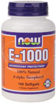 Vitamin E-1000- 100 Sgels, NOW Foods