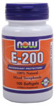 Vitamin E 200 IU - 100 Soft Gels, NOW Foods