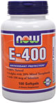 Vitamin E-400 IU - 100 Sgels, NOW Foods