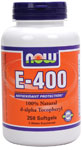 Vitamin E-400 IU D-Alpha Tocopheryl Acetate - 250 Gels, NOW Foods