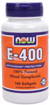 Vitamin E 400 IU MT - 100 Sgels, NOW Foods