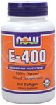 Vitamin E-400 IU MT - 250 Sgels, NOW Foods