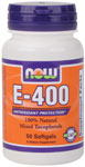 Vitamin E 400 IU MT - 50 Sgels, NOW Foods