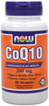 CoQ10 200 mg - 60 VCaps, NOW Foods