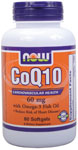 CoQ10 60 mg w/Omega 3 Fish Oils - 60 Gels, NOW Foods