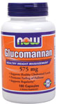 Glucomannan 575 mg - 180 Capsules, NOW Foods