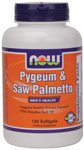 Pygeum & Saw Palmetto + Pumpkin Seed Oil - 120 Gels, NOW Foods
