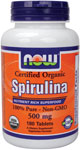 Spirulina 500 mg - 180 Tabs, NOW Foods