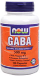 GABA 500 mg + B-6 2 mg, Gaba Supplement - 100 Capsules, NOW Foods