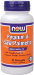 Pygeum & Saw Palmetto Extract - 60 Gels, NOW Foods