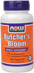 Butchers Broom 500 mg - 100 Capsules, NOW Foods
