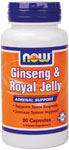 Ginseng & Royal Jelly - 90 Capsules, NOW Foods