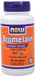 Bromelain 2400 GDU 500 mg - 60 VCaps, NOW Foods
