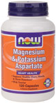 Magnesium & Potassium Aspartate with Taurine - 120 Capsules, NOW Foods