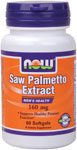 NOW Saw Palmetto Extract Double Strength 160 mg - 60 Gels