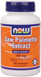 Saw Palmetto Extract 160 mg - 240 Gels, NOW Foods
