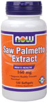 Saw Palmetto Double Strength 160 mg - 120 Softgels, NOW Foods