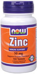 Zinc 50mg- 100 Tabs, NOW Foods