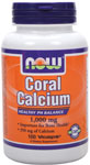 Coral Calcium 1,000 mg - 100 VCaps, NOW Foods