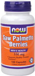 Saw Palmetto Berry 500 mg - 100 Capsules, NOW Foods
