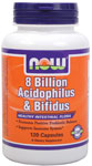 Acidophilus and Bifidus 8 Billion - 120 Capsules, NOW Foods