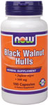 Black Walnut Hulls 500 mg - 100 Capsules, NOW Foods