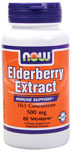 Elderberry Extract 500 mg Vegetarian - 60 VCaps, NOW Foods