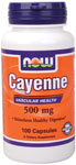 Cayenne Capsules 500 mg - 100 Capsules, NOW Foods