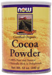 Cocoa Powder, Organic - 12 oz., NOW Foods
