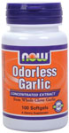 Garlic  ( Odorless ) - 100 Softgels, NOW Foods