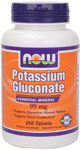 Potassium Gluconate Supplement 99 mg Vegetarian - 250 Tabs, NOW Foods