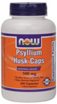 Psyllium Husk 500 mg - 200 Capsules, NOW Foods