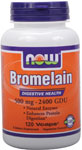 Bromelain 500 mg - 120 VCaps, NOW Foods